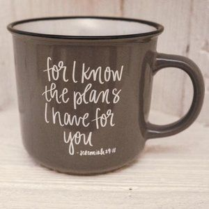 """For I Know The Plans"" Jeremiah 29:11 Coffee Mug"